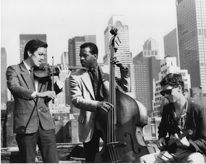 The Hot NY String Trio 1980's to 90's: Left to Right: Jim Nolet, Brad Jones David Tronzo